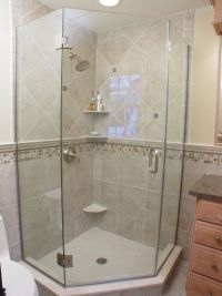 tiled neo angle shower | corner shower for small bathroom ...