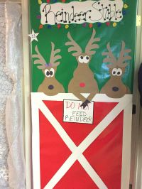 Christmas office door decorating competition. Reindeer