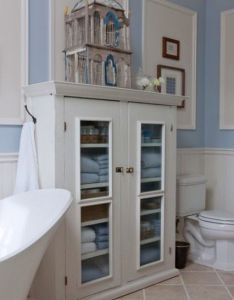 Good idea for the empty wall in kids bath with baskets each also rh pinterest