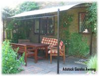 Details about ADSTOCK GARDEN PATIO LEAN TO GAZEBO AWNING ...