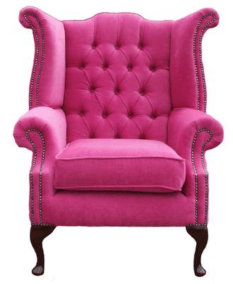 Pink Velvet Wingback Armchair   Just for Sissy