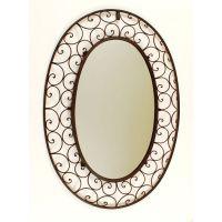 Ashton Sutton Large Oval Wrought Iron Mirror - DS499 ...