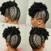 crochet updo. hawk