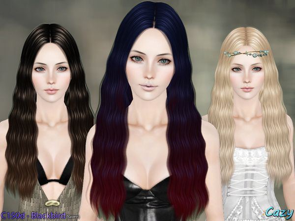 Blackbird Hair Set By Cazy Sims 3 Downloads CC Caboodle Female