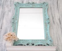 Teal Blue Mirror FRENCH COUNTRY Home MIRROR For Sale ...