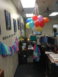 Birthday decorations for cubicle | Work Life ..Events and ...