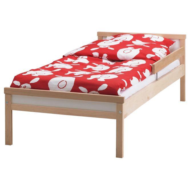 Ikea Sniglar Bed Frame With Slatted Base Solid Wood A Hard Wearing Natural