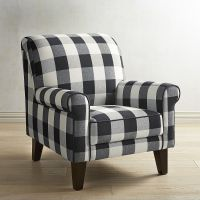 Lyndee Buffalo Check Black Chair