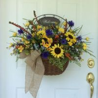 Summer Wreaths, Front Door Decor, Fall Wreaths, Sunflowers ...