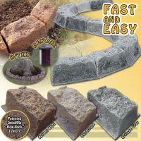DekoRRa Faux Stone Border Edging | Faux stone, Edging ...