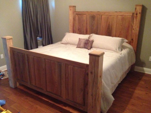Custom sinker cypress headboard and footboard Beautiful