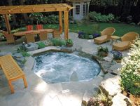 Betz inground spa | Backyard | Pinterest | Backyard, Hot ...