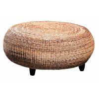 Round Seagrass Ottoman Something like this for family room ...