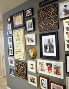 Consider material boards entry photo wall also walls and gallery rh pinterest