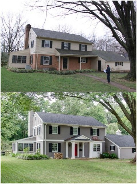 Beautiful Before And After Exterior Remodel Home Makeover