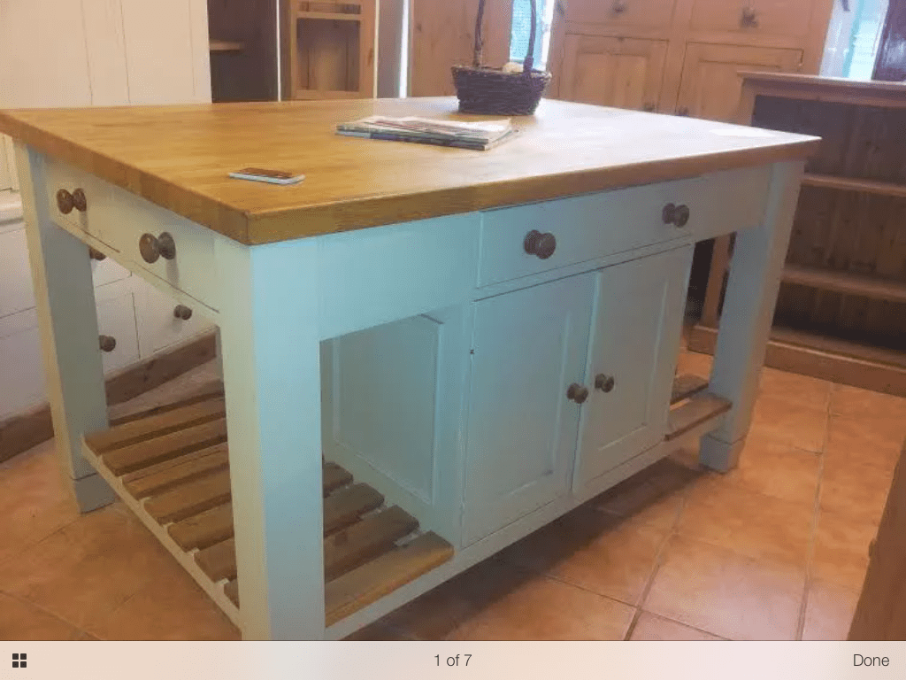 solid wood kitchen island cabinet spacing bespoke unit with oak top from