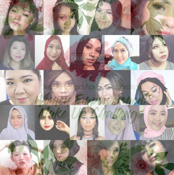 Beautiesquad April Makeup Collaboration, mosaic compilation of contributors