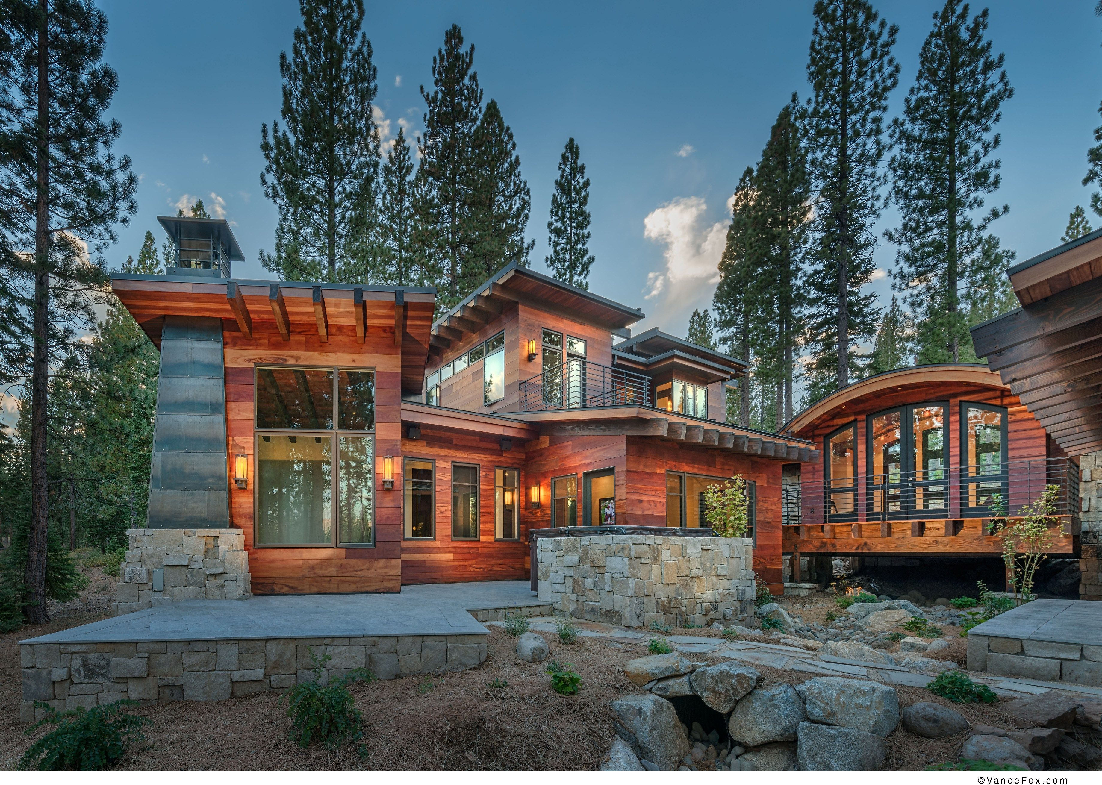 Cabin With Tigerwood Siding In Truckee, CA. Built By NSM