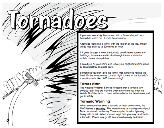 Here's a booklet for kids from the National Weather
