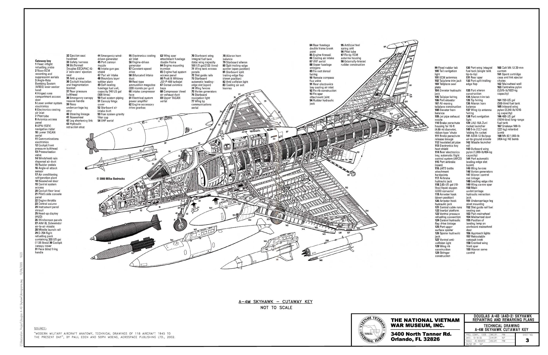 A4 Skyhawk Cutaway