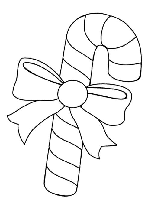 Candy Cane For Joy Christmas Coloring Page