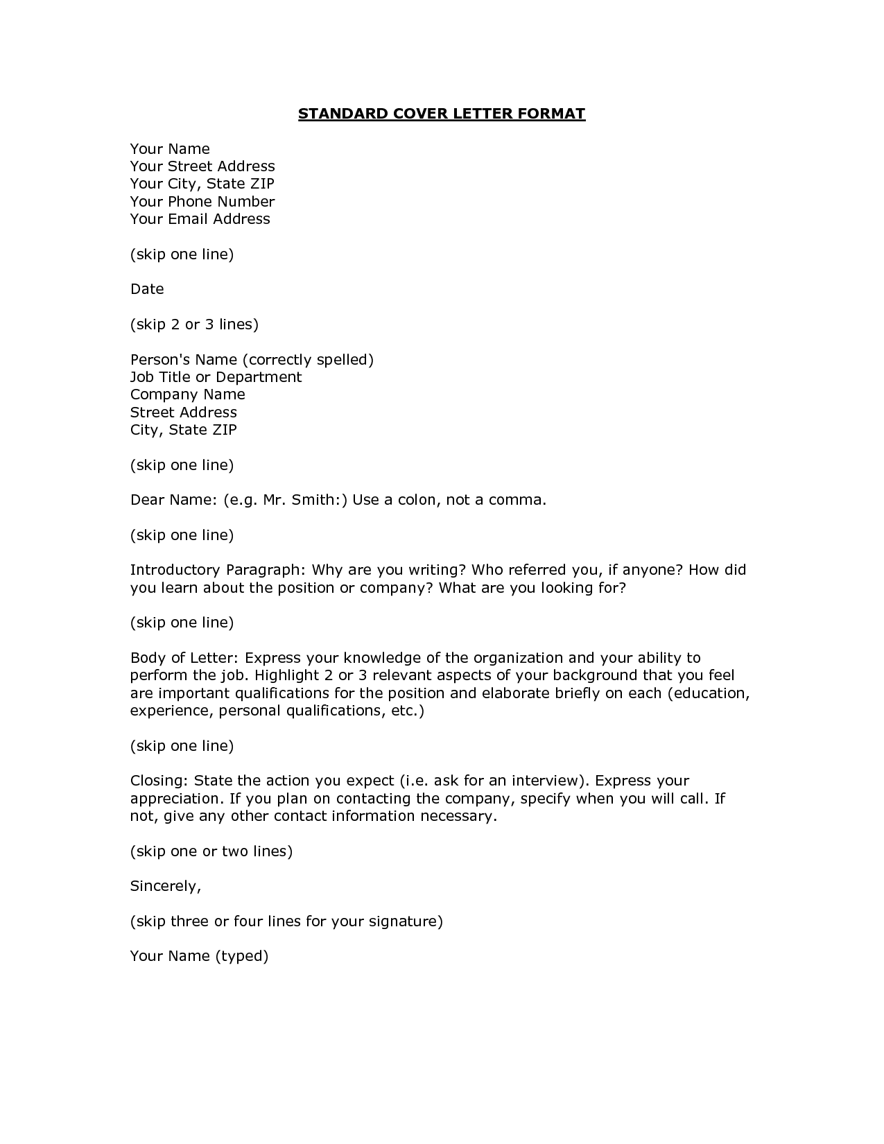 proper format for a cover letter  Google Search  Job Search  Pinterest  Decoration and Interiors