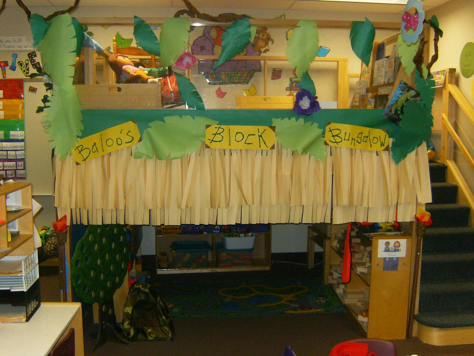 Baloo S Block Bunglow Block Center Preschool Decoration Jungle Rainforest Theme