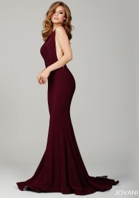 Burgundy Prom Dress by Jovani- This form-fitting prom gown ...