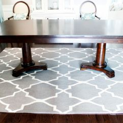 Area Rugs For Under Kitchen Tables Touch Faucet Reviews Gray Dining Room Rug Table