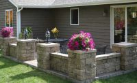 retaining wall blocks patio