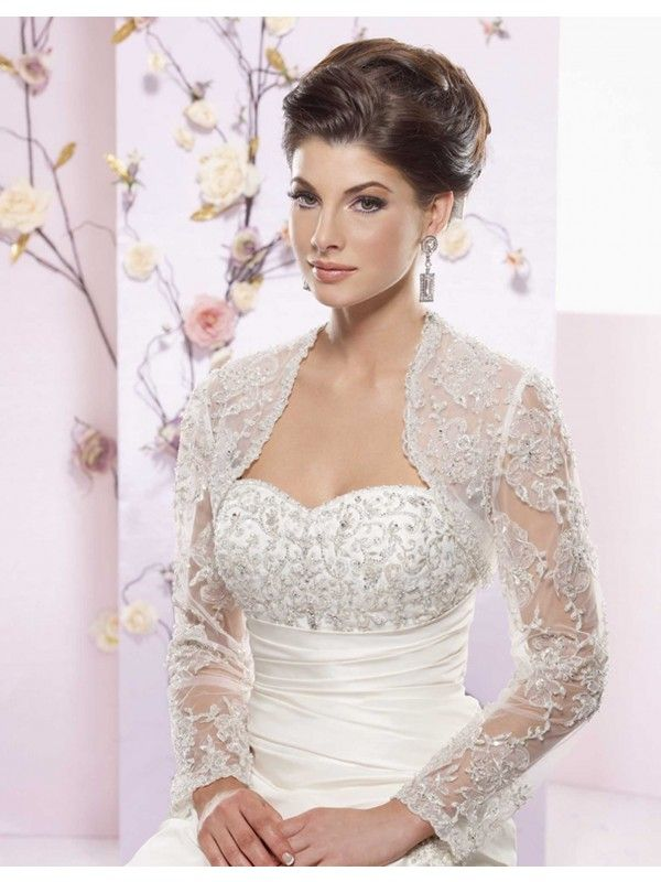 long sleeve wedding bolero  Tailor Made Long Sleeves Bolero for Wedding Dress  Wedding dresses