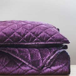 Purple Crushed Velvet Bedroom Chair Baseball Bat Rocking Plans Add Luxury To Your With Our Plum Coverlet