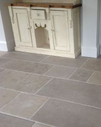 Grey and beige limestone flooring made from Montpellier ...