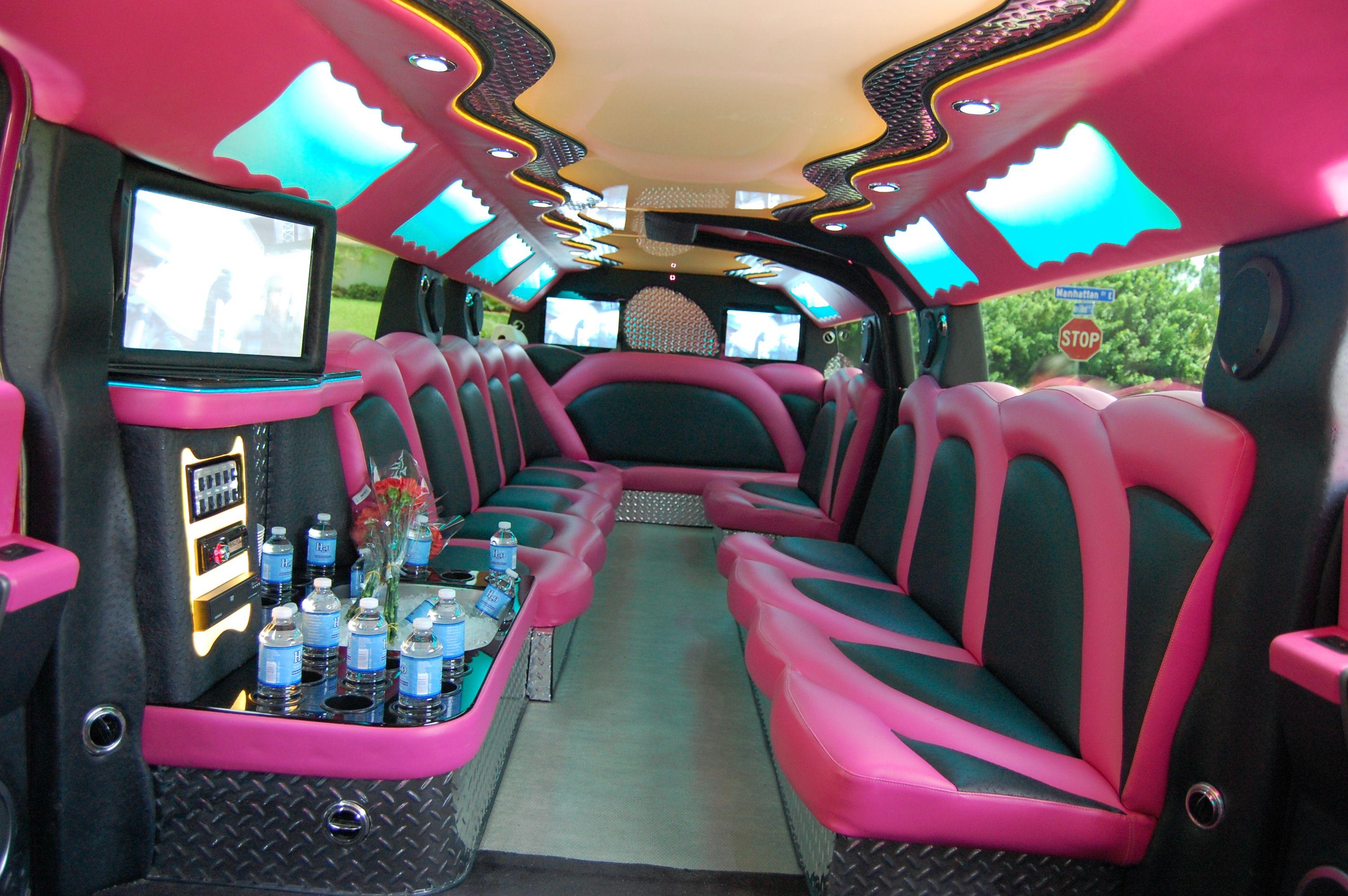 Pink Hummer Limo Interior Pink Hummer Limo Pinterest