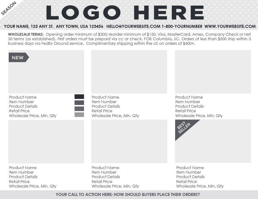 Sample Line Sheet Template. Fashion Linesheet Fashion Linesheet ...