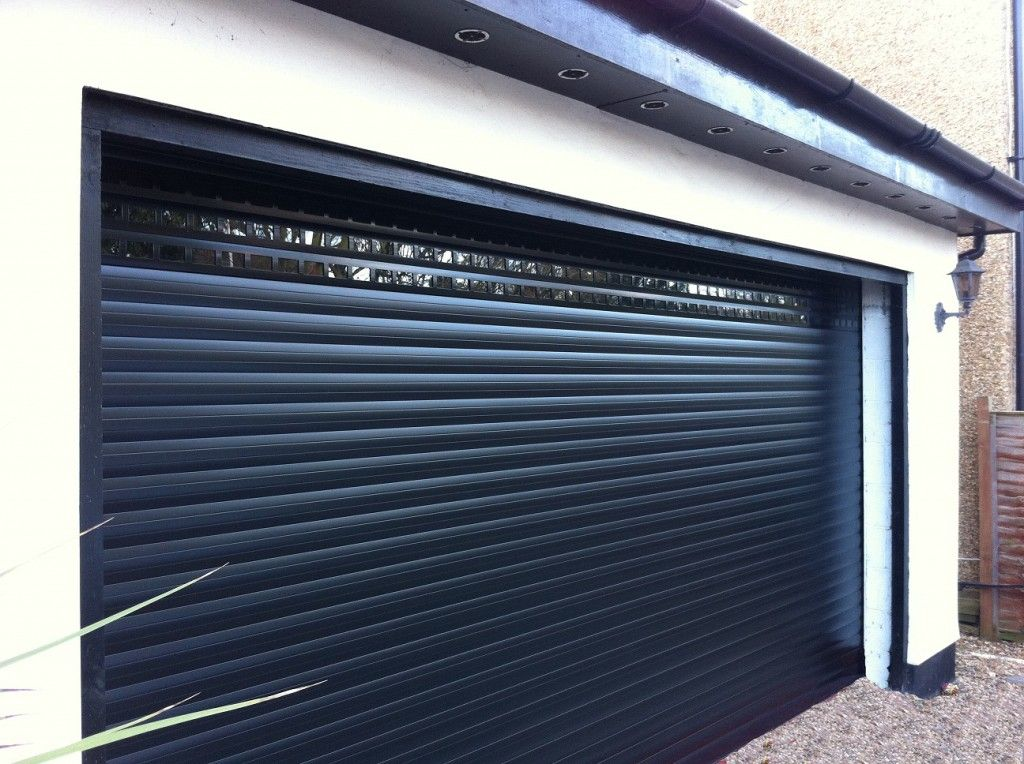 Insulated Gliderol roller garage doors installed with