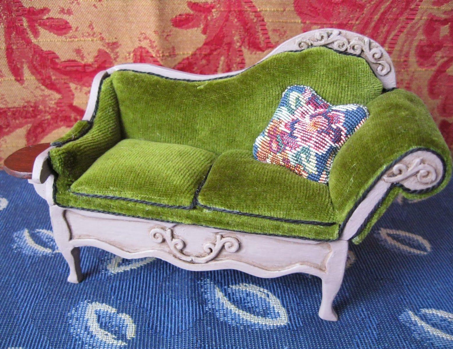dollhouse sofa abbyson living durham leather pushback reclining how to miniature http pinterest dhminis