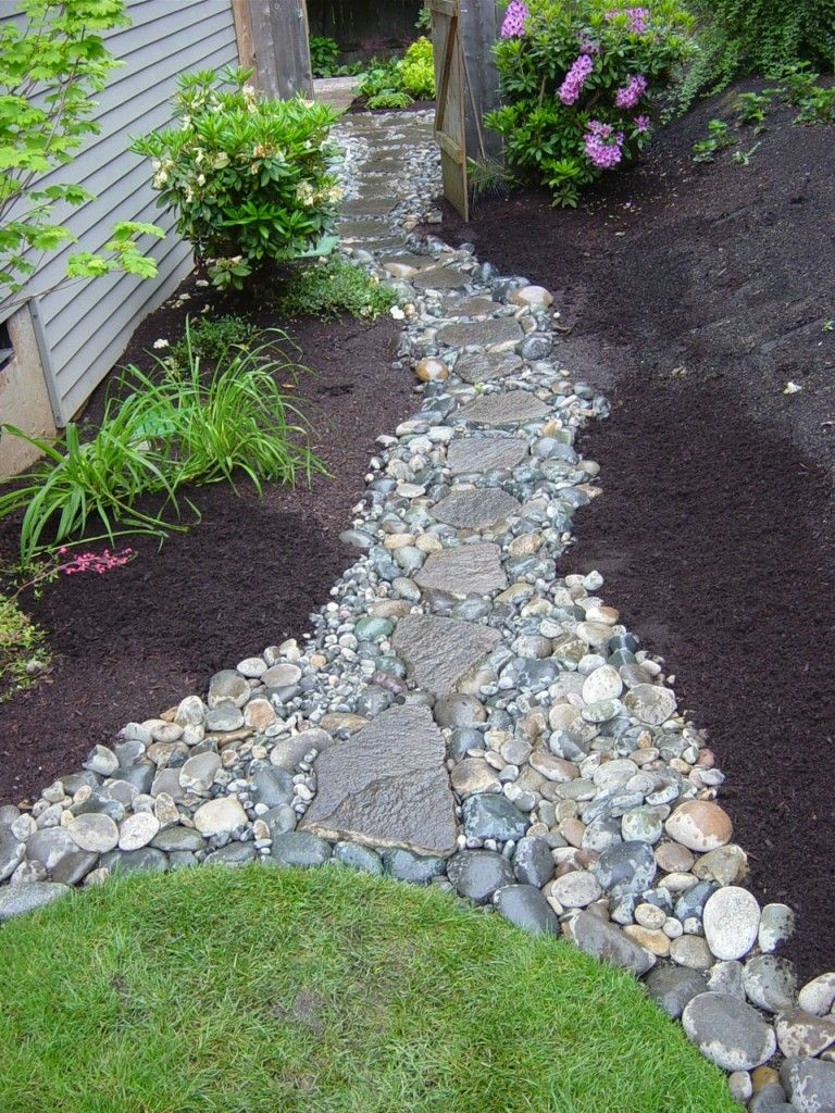 37 MESMERIZING GARDEN STONE PATH IDEAS Rock Walkway Walkways