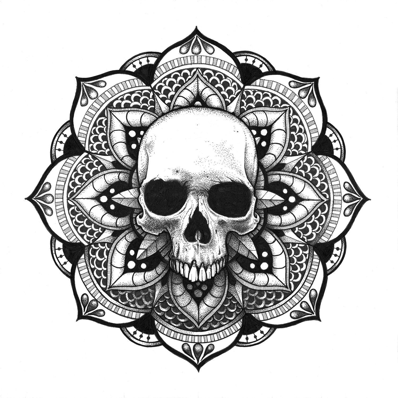 Mandala Crane Skull Mandala
