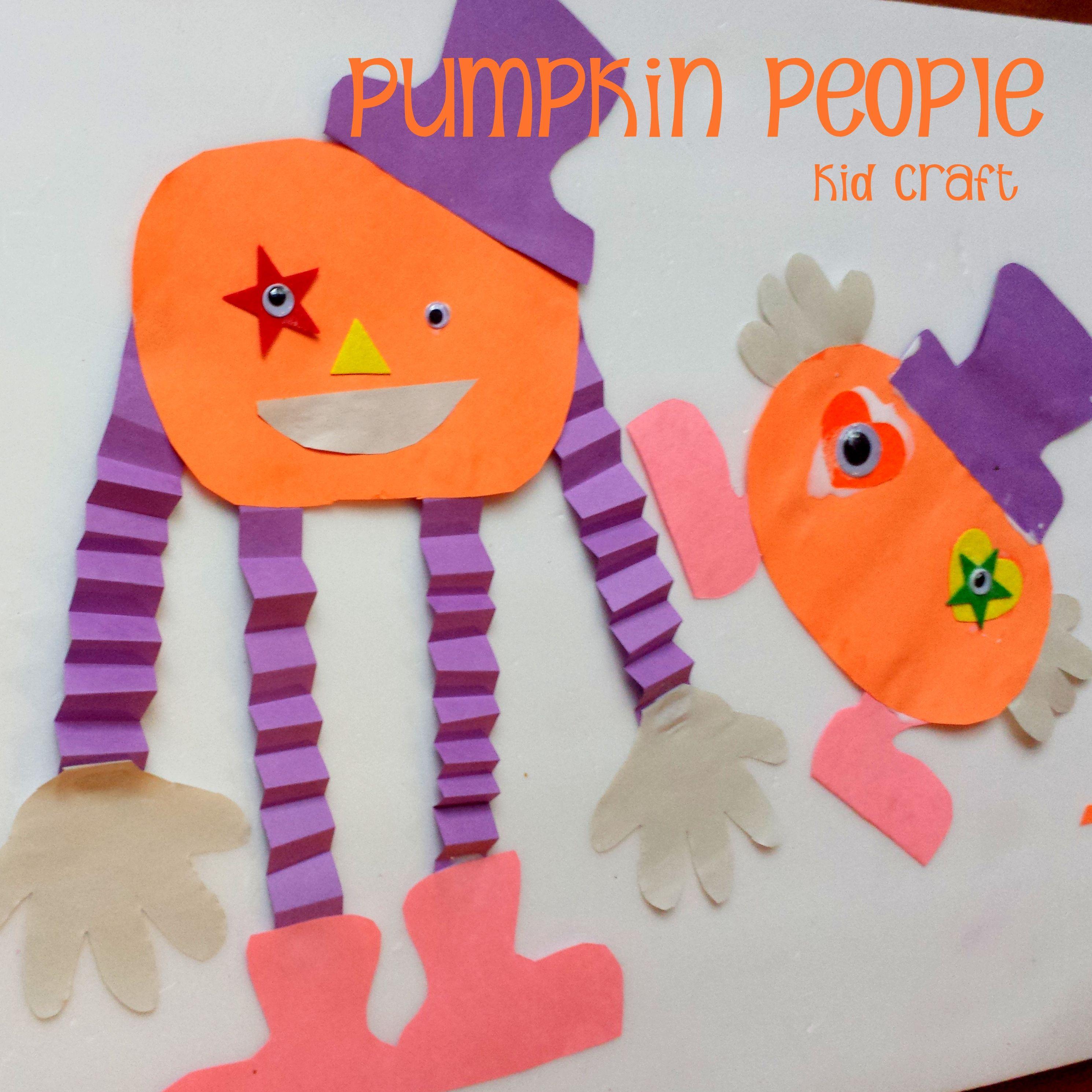 Halloween Kid Craft Pumpkin People