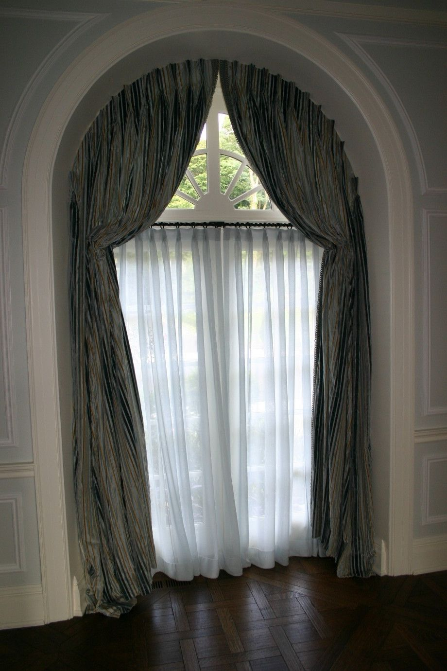 Arched Window Treatments Home Decoration Ideas Half Circle