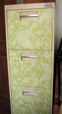 Craft room file cabinet for fabric storage. I got this