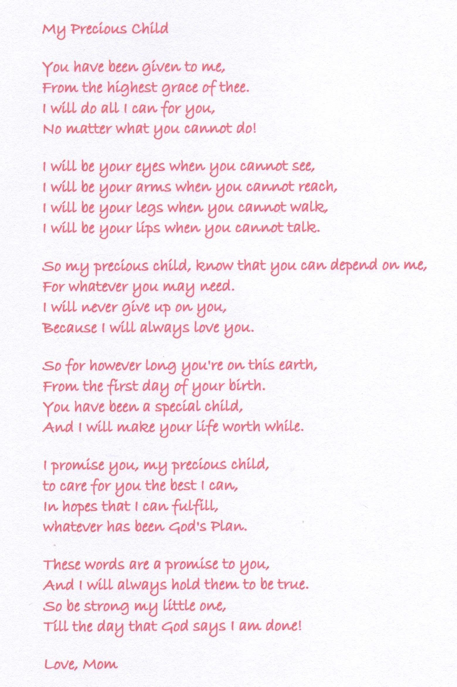 Poem From Mom  Sissy  Pinterest  Poem