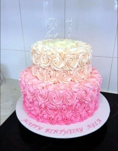 Cake topper st birthday for women completed with luxury buttercream swirl roses also best images about mom   th celebration on pinterest rh
