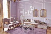 Living Room , Beautiful Lavender Living Room with Romantic ...