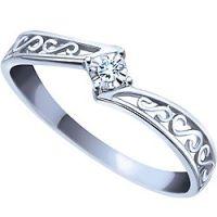 Ben Moss Jewellers 0.02 Carat, 10k White Gold Diamond ...