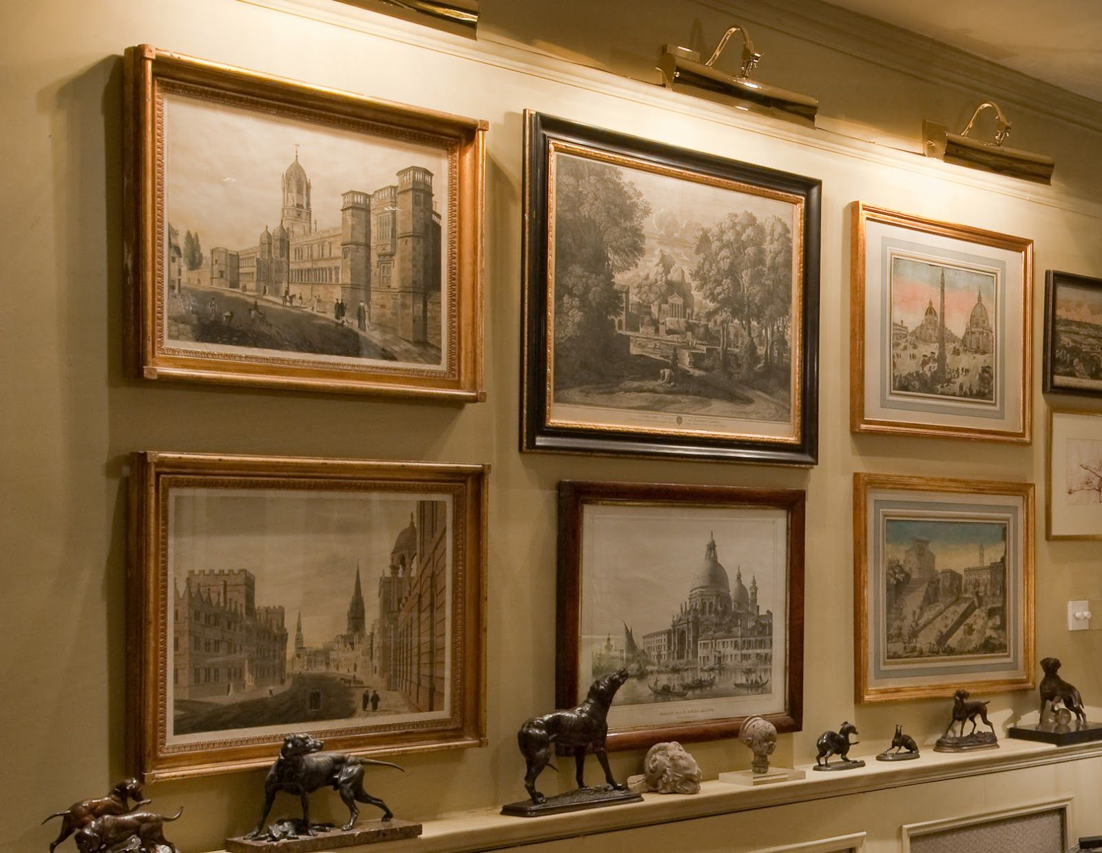 Elegant wall of antique city views also         pinterest rh