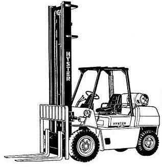 Hyster Forklift G005 Series: H3.50XL, H4.00XL-5, H4.00XL-6
