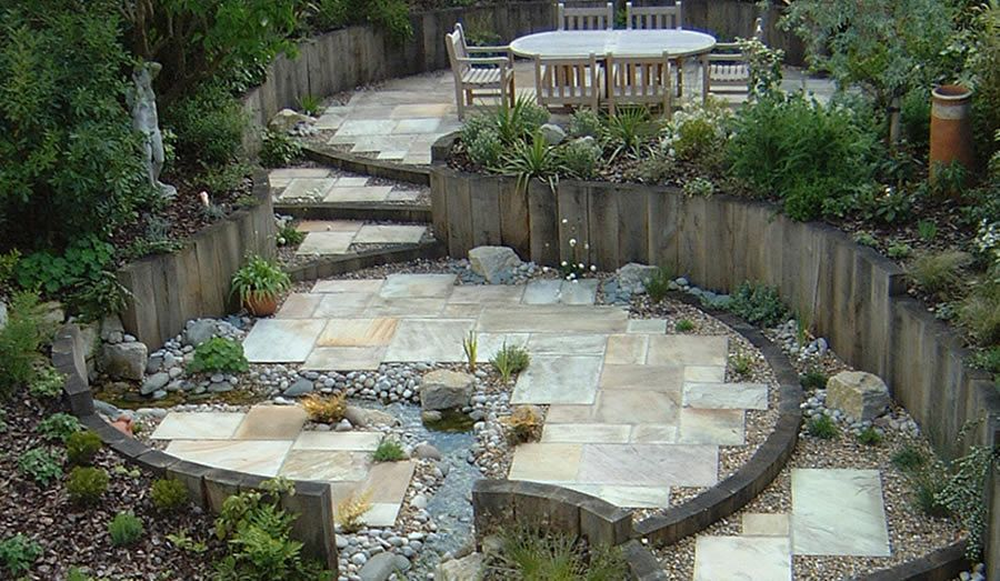 Inspiring And Beautiful Sloped Garden Ideas Decoritem Com