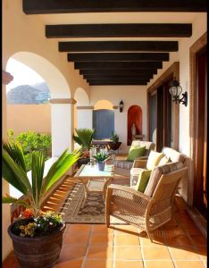 Outdoor living space mediterranean patio other metro by wendy zolezzi design maybe external tiles  bit like this darker colour the ones also vigas  pinteres rh pinterest